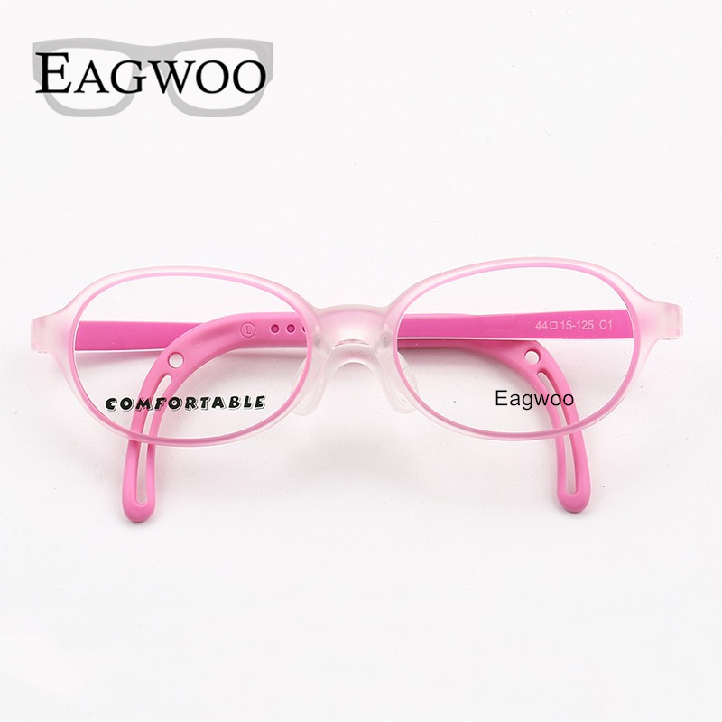 Image 5 - Eagwoo Silicon Soft Eyeglasses Children Optical Frame Little Boy Girl Glasses Temple with Adjustable String GreenMens Eyewear Frames   -