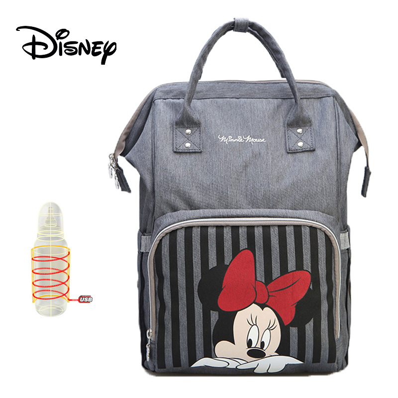 Disney Diaper Bag Backpack Baby Bags For Mom Stroller USB Cable Mummy Baby Care Travel Maternity Wet Nappy Boy Organizer Pram