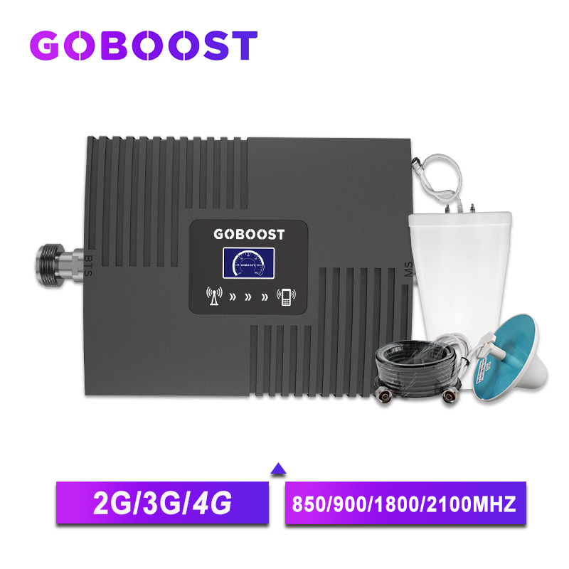 Repeater GSM 2G 3G 4G Cellular Signal Amplifier LTE 4G DCS Amplifier GSM 900 1800 2100 Mobile Signal Booster LDPA Antenna 3g -