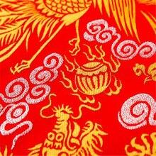 75x100 см модная жаккардовая полиэфирная ткань из парчи с изображением дракона и феникса для домашнего текстиля