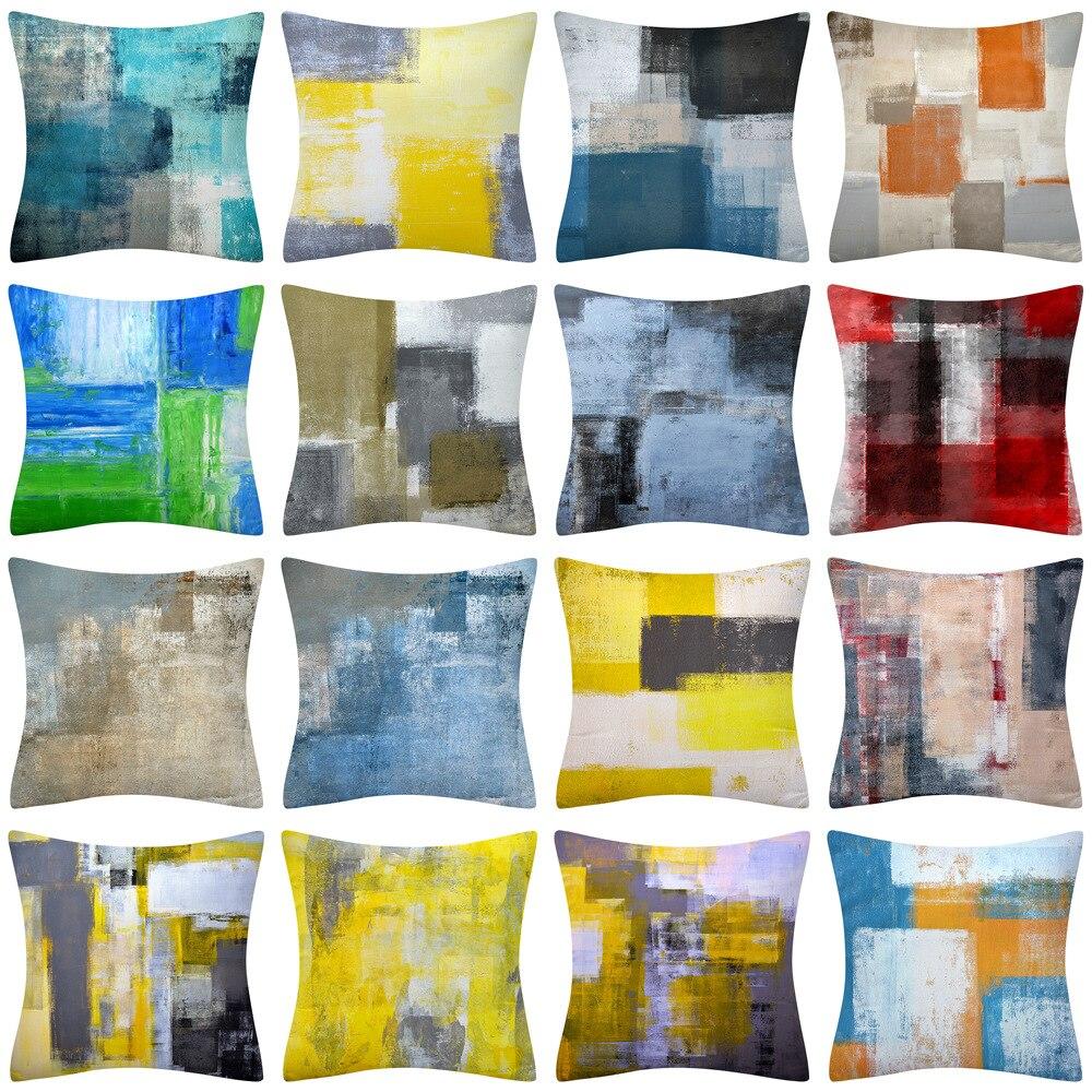 Decoração para casa travesseiro moderno abstrato capa de travesseiro escritório sofá capa de almofada fronha funda cojin 45x4 5/40x4 0/30x5 0/cm