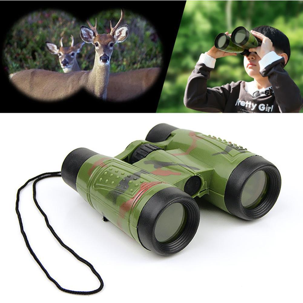 6x30 Binoculars Children Simulation Adjustable CS Hunting Field Survival Telescope Toy Adjustable Child Telescope Bright Colours
