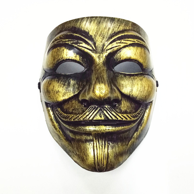 Party cos Masks V for Vendetta adult Mask Anonymous Guy Fawkes  Halloween Masks Adult Accessory Party Cosplay 5