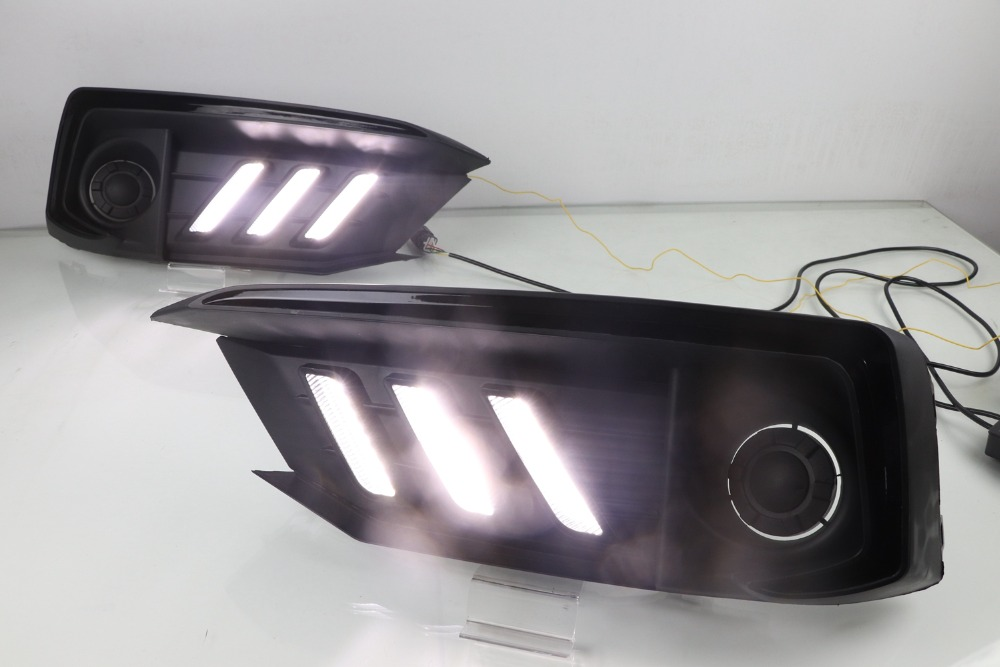 Set Front Light DRL Fog Lamps Cover Wiring Switch For Honda Civic 10th 2016-17