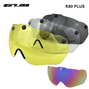 GUB K80 PLUS Mountain Road Bicycle Cycling Helmet Goggles Glasses Magnetic Lens Yellow Grey Transparent Bike Helmet Accessories