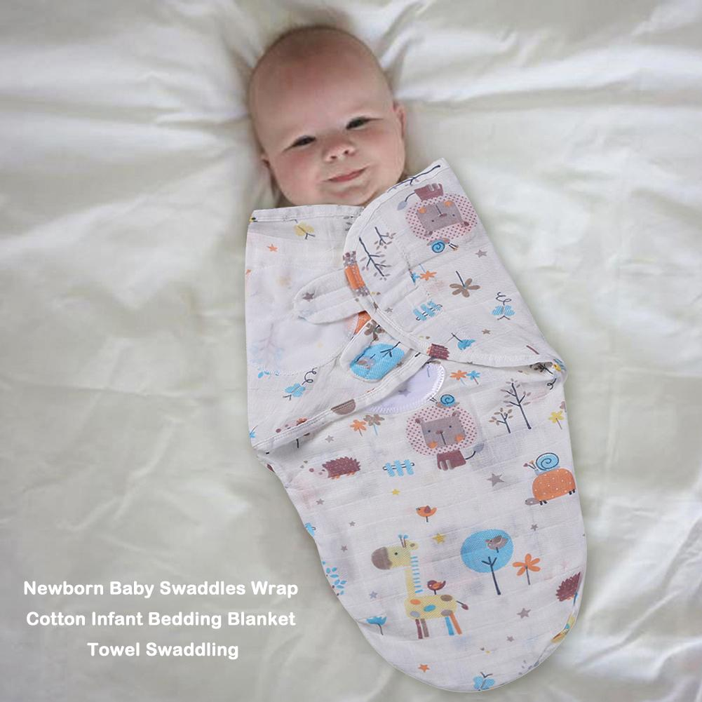 Cotton Baby Swaddles Soft Newborn Blankets Infants Wrap Stroller Cover Play Mat Reasonable Thickness Comfortable Touch