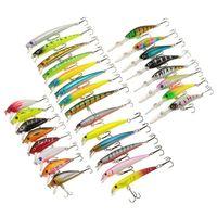 30/pcs/set Minnow fishing lure Kit China Hard Bait Lure Wobblers Carp Pencil Popper Crankbaits Pesca Fly Fishing Tackle|Fishing Lures| |  -