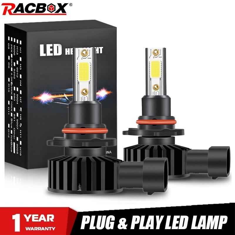 H11 H7 автомобильная светодиодная лампа для фары H9 H8 H27 880 881 HIR2 9012 HB3 9005 HB4 H3 мини светодиодная лампа 9006 лм автомобильная лампа 6500K противотуманны...