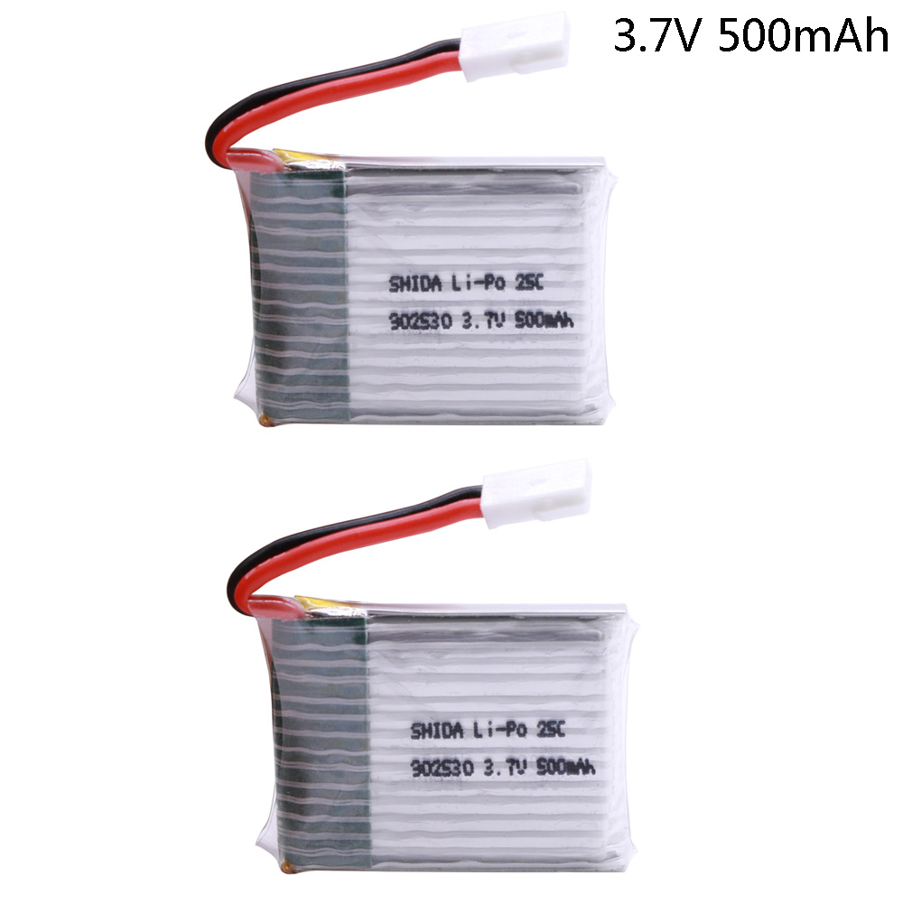 2PCS/lot 3.7V 500mAh 25C 1S LiPo Battery For Wltoys V931 F949 XK K123 6Ch RC Helicopter Spare Parts 3.7V Toys Accessory