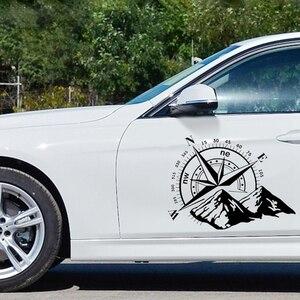 Image 3 - CK20338 # Sterben Cut Vinyl Aufkleber Die Berge. Kompass. Wind rose Auto Aufkleber Wasserdicht Auto Dekore