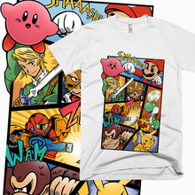 Round Neck Good Dairanto Super Smash Mario Bros T-shirt For Man Kirby Link T Shirt XS-3XL Big Size Casual Popular T-shirt(China)