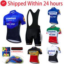 2021 Pro Team Quick Step Cycling Jersey 20D Bib Set Bike Clothing Ropa Ciclism Bicycle Wear Clothes Mens Short Maillot Culotte