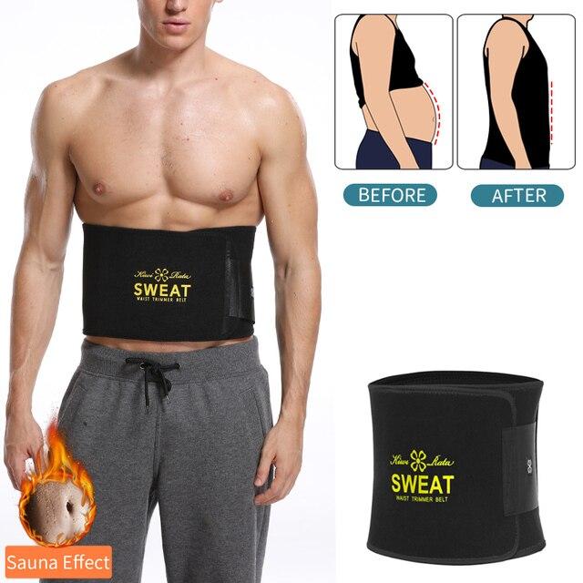 Men Waist Trainer Belly Shapers Abdominal Promote Sweat Body Shaper Slimming Belt Weight Loss Shapewear Trimmer Girdle Shapewear