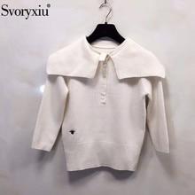 Svoryxiu осенне-зимний дизайнерский высококачественный белый свитер Пуловеры Женская мода паук вышивка вязаный джемпер