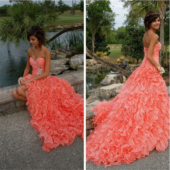 2018 Sexy After Short Before Long Sweetheart Crystal Ruffles Off The Shoulder Beading Prom Gown Mother Of The Bride Dresses