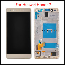 цена на High Quality  For Huawei Honor 7 With Frame LCD Display with Touch Screen Digitizer Glass Assembly with free tools