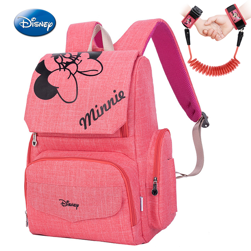 2018 Hot Disney Mummy Diaper Bag Travel Backpack Designer Mickey Minnie BagsMaternity Nappy Nursing Bag For Baby Care Pink Grey
