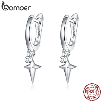 bamoer Silver 925 Jewelry Starry Star Dangle Earrings for Women Korean Style Sterling 2020 New Brincos BSE378 - discount item  46% OFF Fine Jewelry