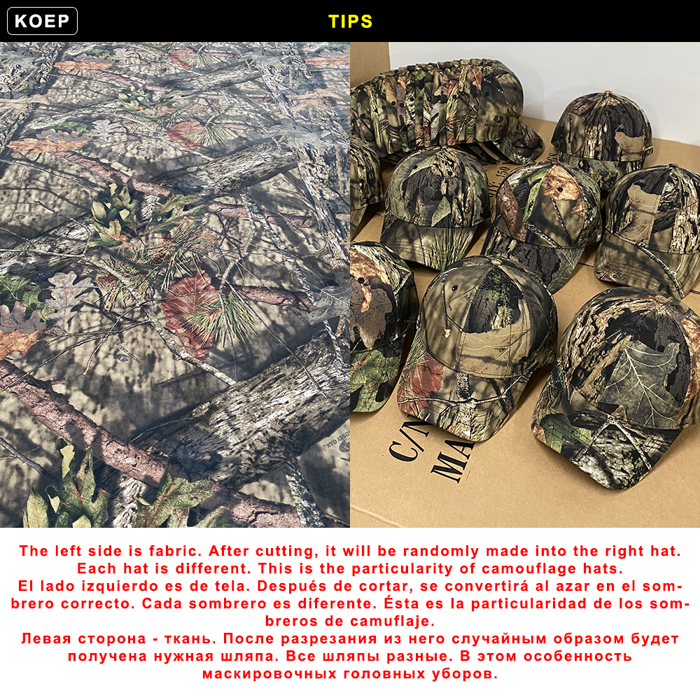 KOEP 2021 New Camo Baseball Cap Fishing Caps Men Outdoor Hunting Camouflage Jungle Hat Airsoft Tactical Hiking Casquette Hats
