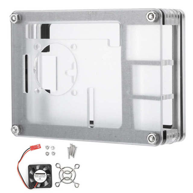 9 Layers Acrylic Case Kit with Cooling Fan and Mesh Cover for Raspberry Pi 4 Model B raspberry pi Demo Board Accessories