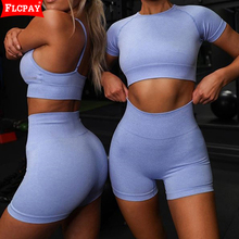 Yoga Workout Outfits for Women 4 Piece Set, High Waisted Striped Gym Leggings Top Bra Set, Fitness Gym Outfits Set yoga set page 4