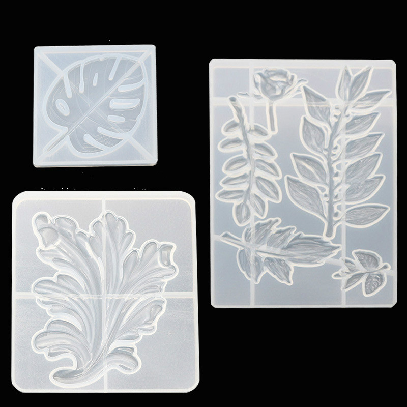 1PC Leaf Silicone DIY Handcraft Decoration Molds UV Resin Jewelry Molds For Making Jewelry Dried Flower Tools