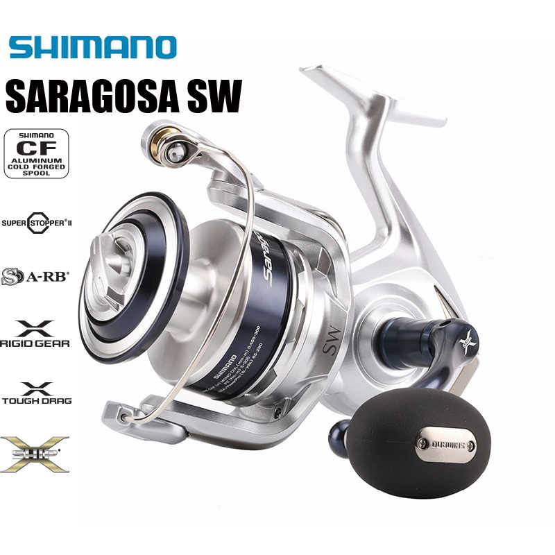 Shimano Saragosa Sw 5000 6000 8000 10000 20000 25000 22-44 (Lb) slepen Max Management Systeem Saltwater Spinning Reel Fishing