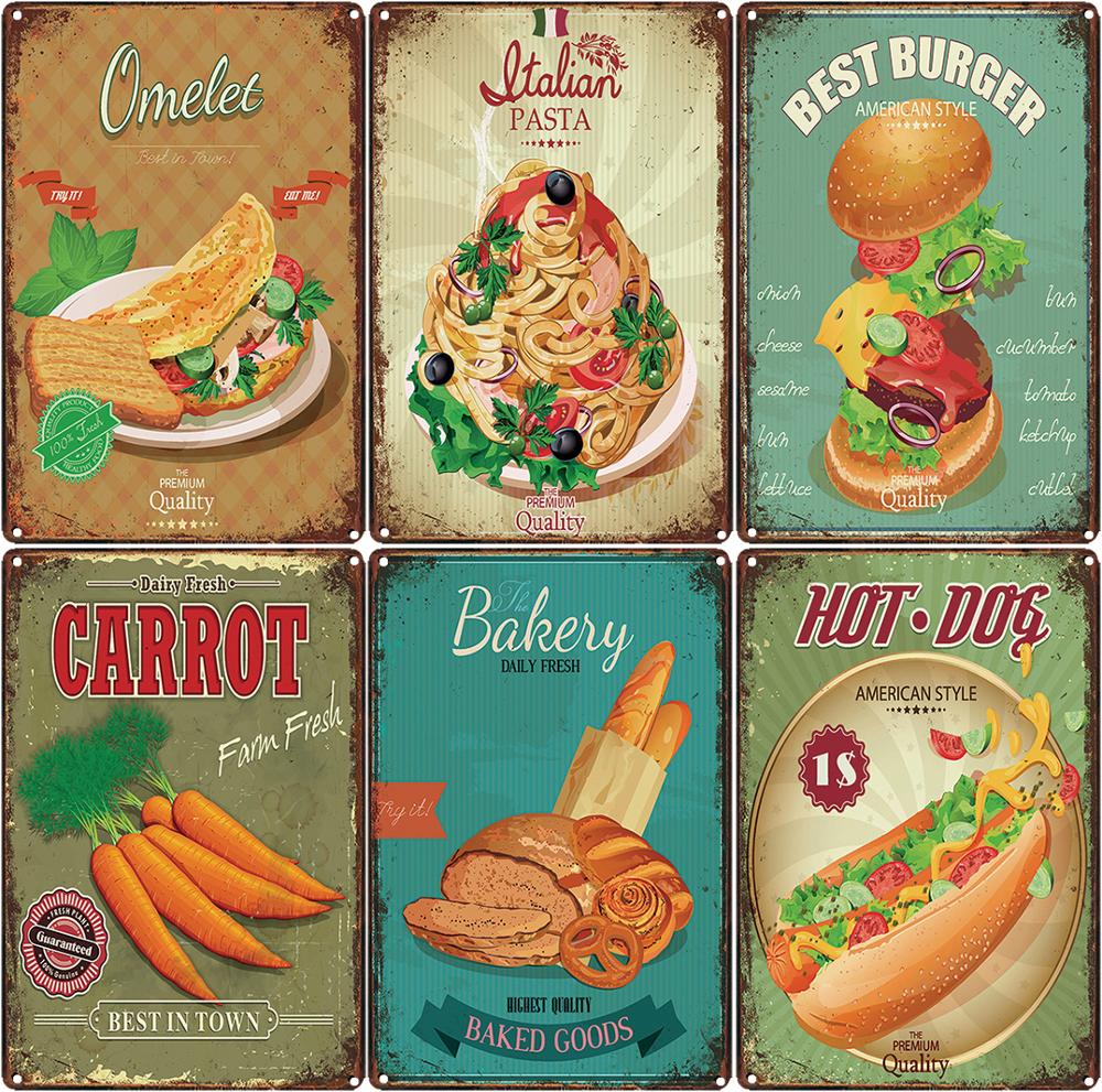 US $19.19 119% OFFColorful Delicious Ice Cream Dessert Iron Poster Wall Art  Home Kitchen Shop Decor Vintage Chic Iron Plaque BillboardPlaques & Signs