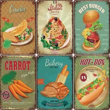 Cartel de hierro de colores Delicious helado postre arte de pared hogar cocina tienda decoración Vintage Chic Placa de hierro cartelera