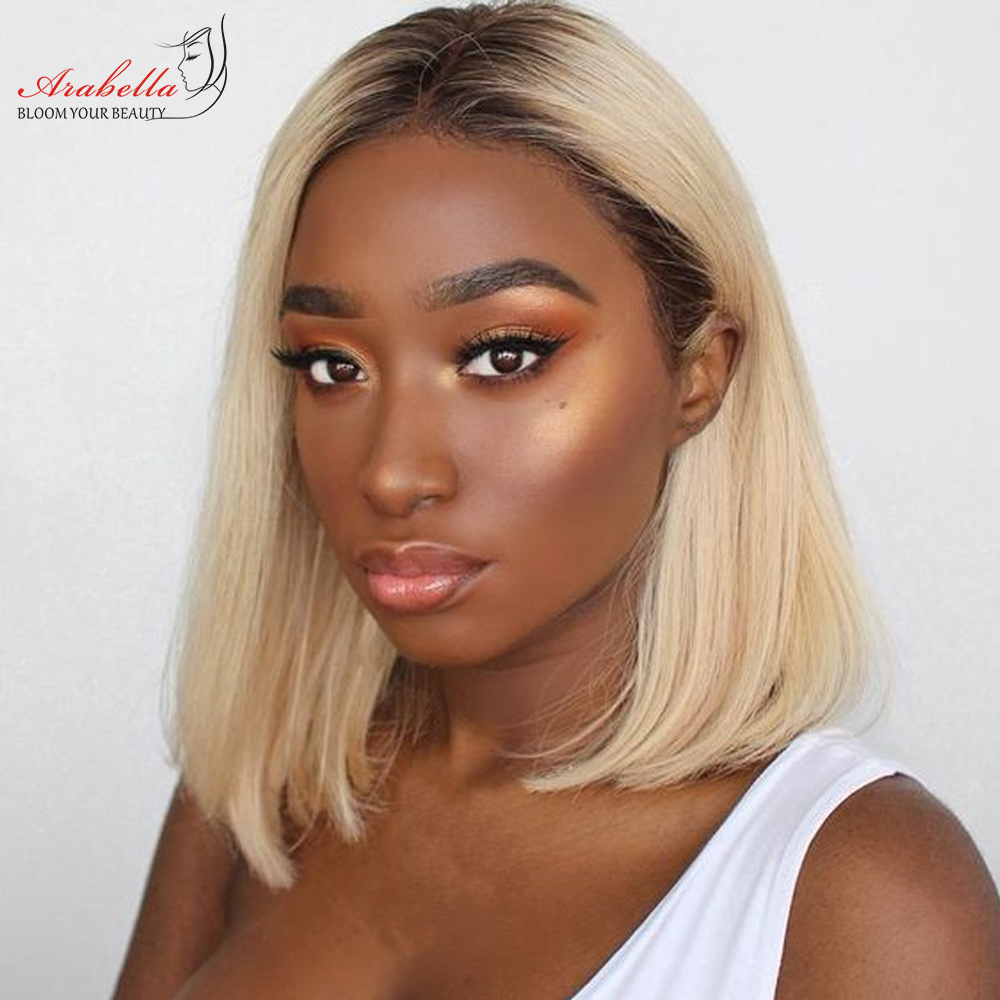 Blonde Straight Bob Wig Lace Front Wig 100%  Wigs 180% Density Arabella   Hair 613 Lace Front Wig Bob 1