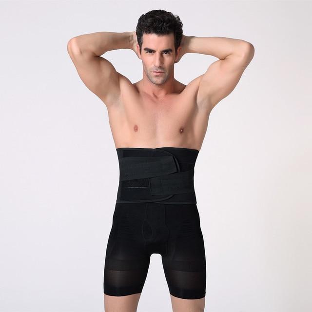 Men Compression Slimming Belts Body Shapers Belt Corset Fitness Girdle Waist Cincher Trimmer Abdomen Fat Burning Tummy Shapewear 1