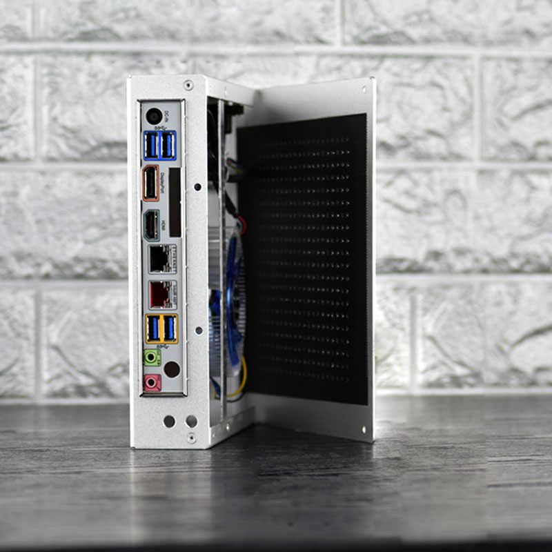 nouvelle coque pc gamer armoire de securite pour ordinateur tour complete mini tour mince itx chassis vide usb alliage d aluminium livraison