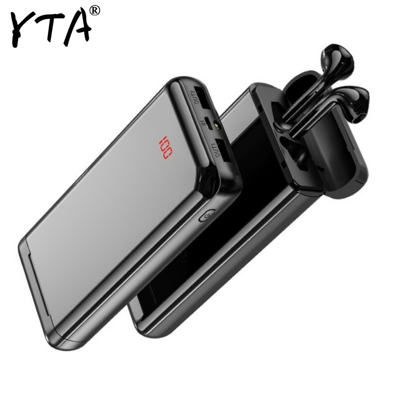 Fast Charger Pover Bank For Xiaomi Iphone 7 8 X Pro Bluetooth Headset Power Bank 30000mAh Powerbank External Battery Portable