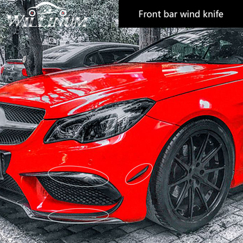 Car front sticker for Mercedes Benz W212 auto exterior body bumper side air vent outlet stickers trim cover anti-collision strip auto body outlet air conditioner automobile decorative chromium car styling sticker strip 11 12 13 14 15 16 17 for bmw 5 series