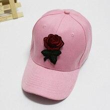 Женская Бейсболка с вышитыми розами и широкими полями, регулируемая парусиновая шляпа NIN668