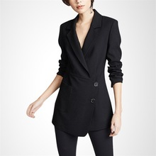 KoHuJoo Fashion Blazers Femake Single Breasted Notched Collar Solid Irregular Blazer Jackets Women 2019 Fall Coats Black