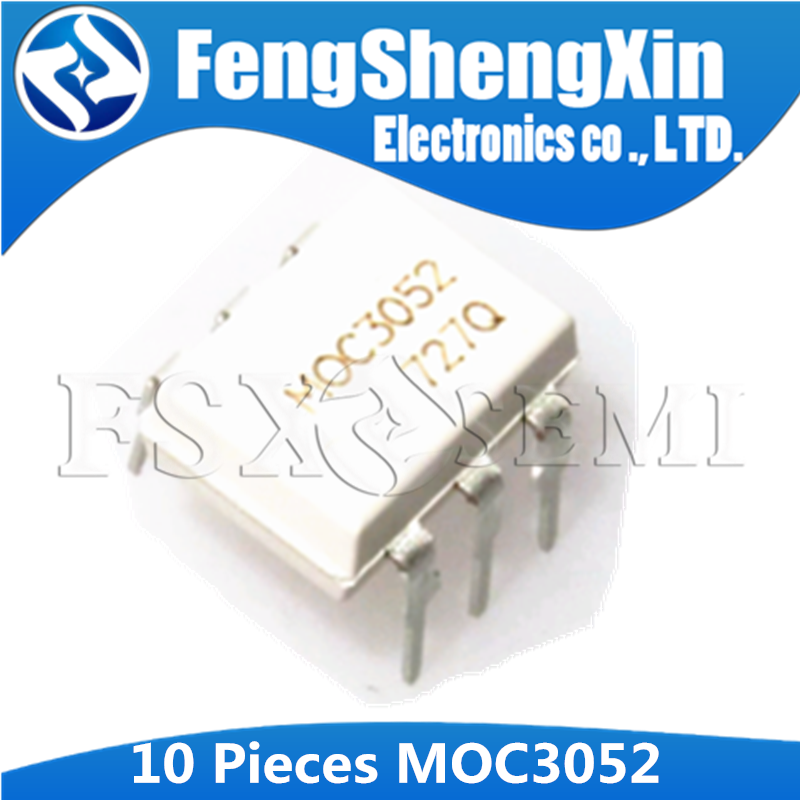 10 PCS MOC3061 DIP-6 Optoisolators Triac Driver Output