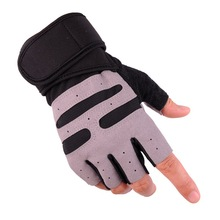 цена на Gym Gloves Half Finger Fitness Weight Lifting Gloves Body Building Training Sports Exercise Sport Workout Glove for Men Women