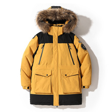 Clothing Jackets Coat Fur-Collar Winter Fashion Brand-New Male Thick Windbreaker Streetwear