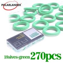 Kompressor O-ring Dichtungen Auto Styling Gummi Washer 270 stücke O-ring Auto Klimaanlage Dichtung Dichtung Set freies Verschiffen