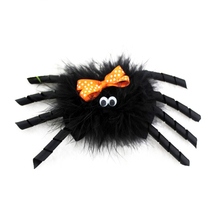 5 pcs 4 Inch Halloween hair bows spider bow for teens girls party hairy clip Hair accessories