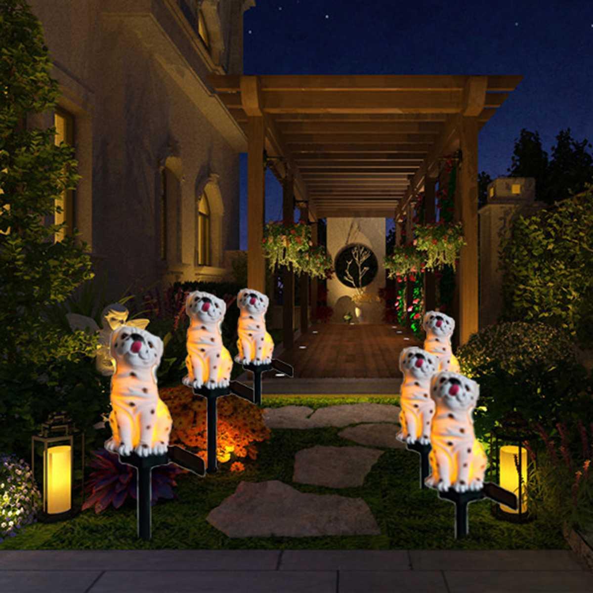 Novelty Outdoor Solar Garden Lights LED 3D Animal Bird Ornament Yard Lamp Decor