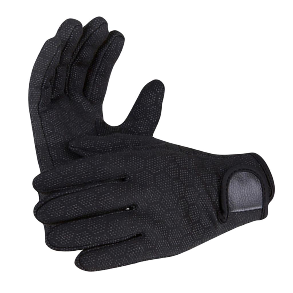 Performance 1.5mm Neoprene Gloves Diving Wetsuit Gloves For Men Women Kids - Warm & Durable - Black