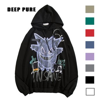 Sweatshirts anime hoodie Oversized  man hoodies 2020  Autumn winter Mens clothes hip hop streetwear pokemon gengar Cotton male 1