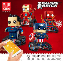 13039 Square Head Tsai Series Spider Smart APP Programming Remote Control Electric Puzzle Insert Assembled Building Block Toy(China)