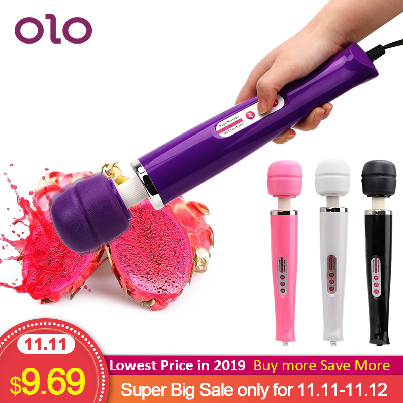 OLO <font><b>Big</b></font> Size Magic Wand <font><b>Vibrator</b></font> Clit Stimulator AV Stick Wand Dildo <font><b>Vibrators</b></font> 12 Speed <font><b>Sex</b></font> <font><b>Toys</b></font> <font><b>for</b></font> <font><b>Women</b></font> <font><b>Adult</b></font> Products image