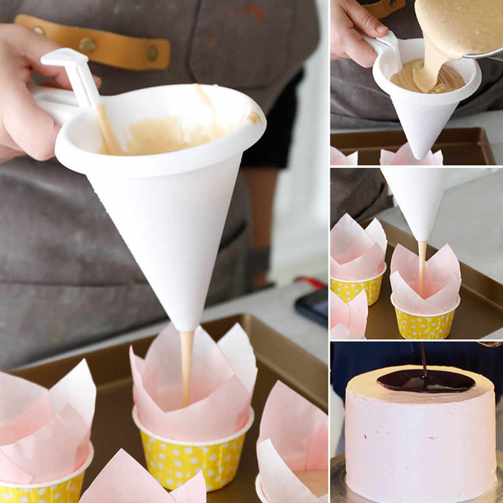 Adjustable Chocolate Funnel for Baking Cake Decorating Tools Kitchen Cake Tools Bakeware Kitchen Chocolate Funnel