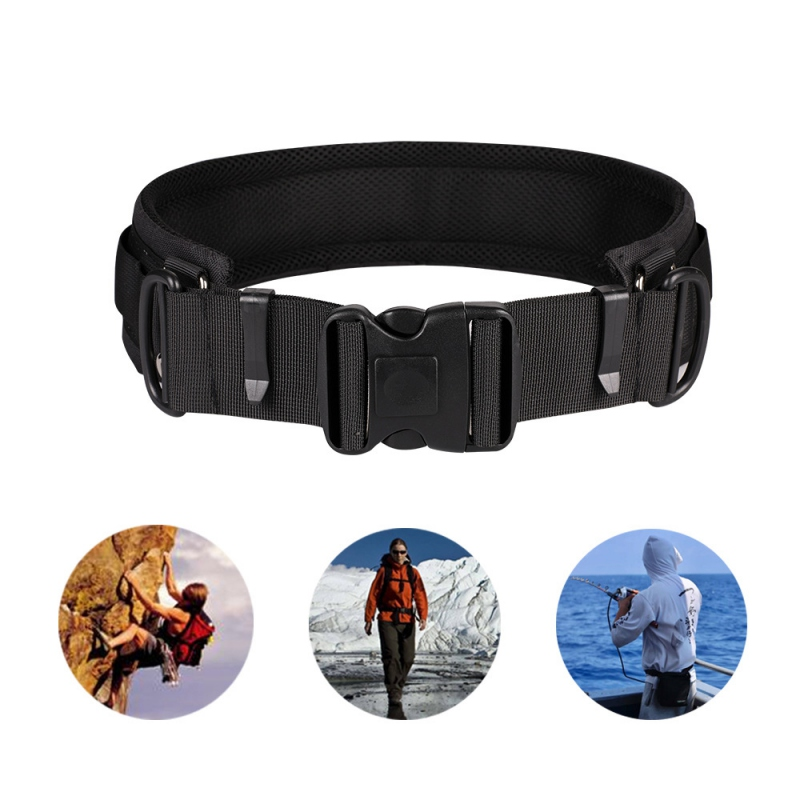 Multi-function Photography Adjustable Waist Strap Waistband Belt With D-Rings For Hanging Tripod Camera Photography Outdoor Acce