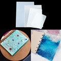 DIY Silikon Epoxy Notebook Abdeckung Form A4 A5 A6 A7 Kristall Epoxy High Spiegel Harz Form Kreative Handarbeit Material Pack