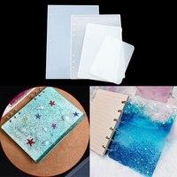 Molde de silicona epoxi para cubierta de cuaderno, paquete de Material hecho a mano creativo de resina epoxi de cristal de alta reflexión, A4, A5, A6, A7